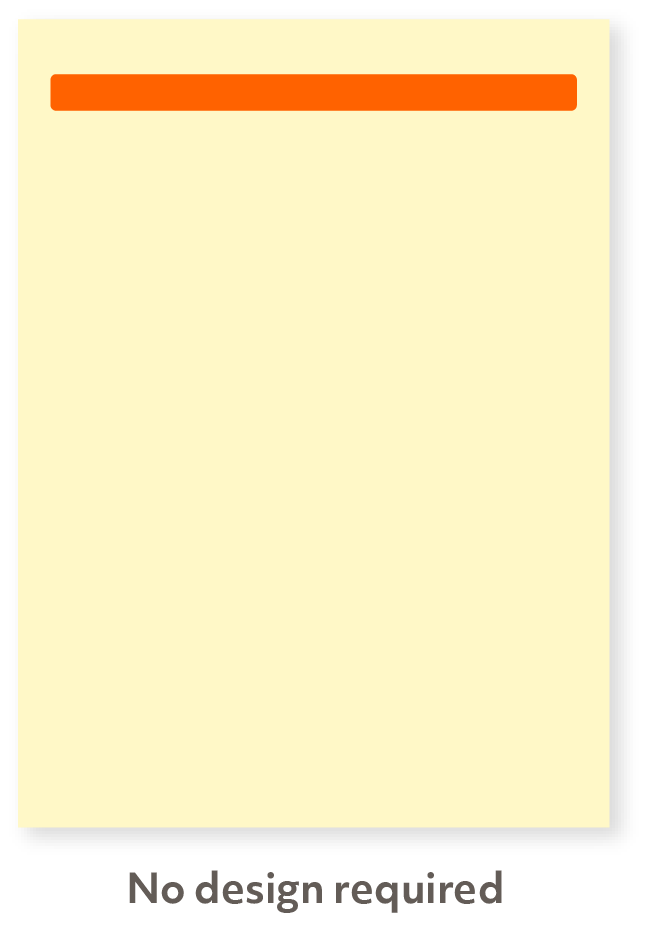 Single line advert
